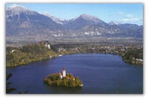 Lake, Island and Mountains, Bled